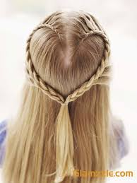 Fishtail Heart shaped Braid Bun